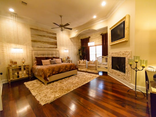 The huge master suite is fit for a king or queen.