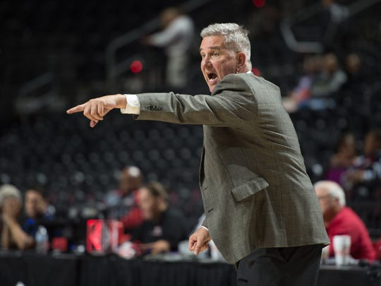 Cajuns Head Basketball Coach Gary Brodhead as Louisiana Ragin' Cajuns Womens basketball take on Coastal Carolina Chanticleers. Saturday, Jan. 6, 2018.