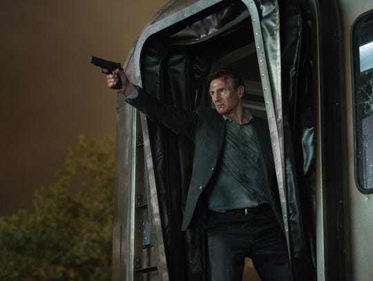 """Liam Neeson as """"Michael"""" in """"The Commuter."""""""