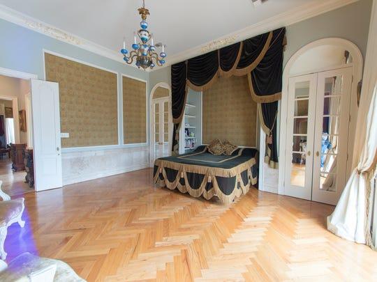 The master bedroom includes built in cedar closets