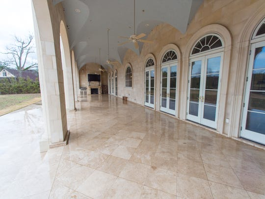 The outdoor living areas include plenty of room for