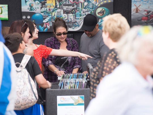 The 17th annual Hobe Sound Festival of the Arts along S.E. Dixie Highway on Saturday, February 3, 2018 in Hobe Sound.