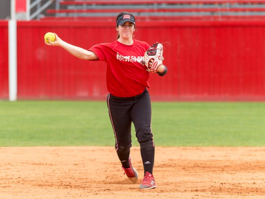 UL shortstop Alissa Dalton has fit in nicely in the middle infield and in the middle of the Cajuns' lineup.