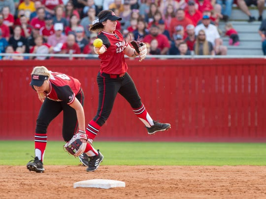 UL newcomer Alissa Dalton has already turned in several sparkling plays at shortstop this season.