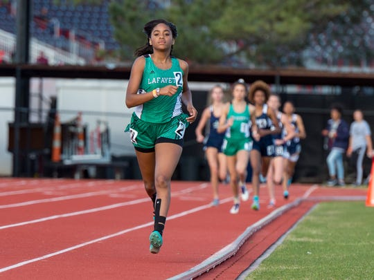 Lafayette High's Sydney Minor qualified in two events for the Class 5A state track meet.