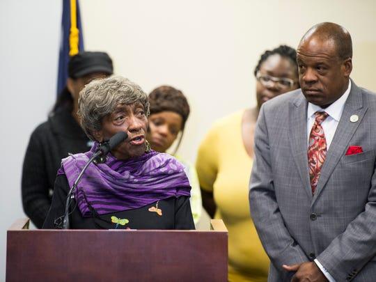 Greenville County Councilwoman Xanthene Norris speaks