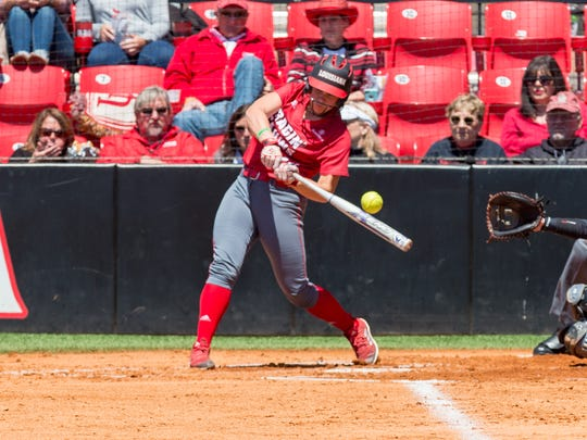 UL's Kourtney Gremillion was 4-for-7 with a double and three RBIs in Sunday's doubleheader split with Texas State at Lamson Park.