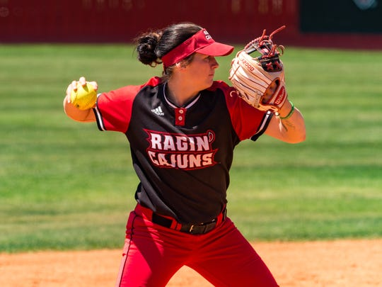 UL's Alissa Dalton had three hits to help the Cajuns beat Texas State 3-1 Monday and extend the program's Sun Belt series winning streak to 43 games.