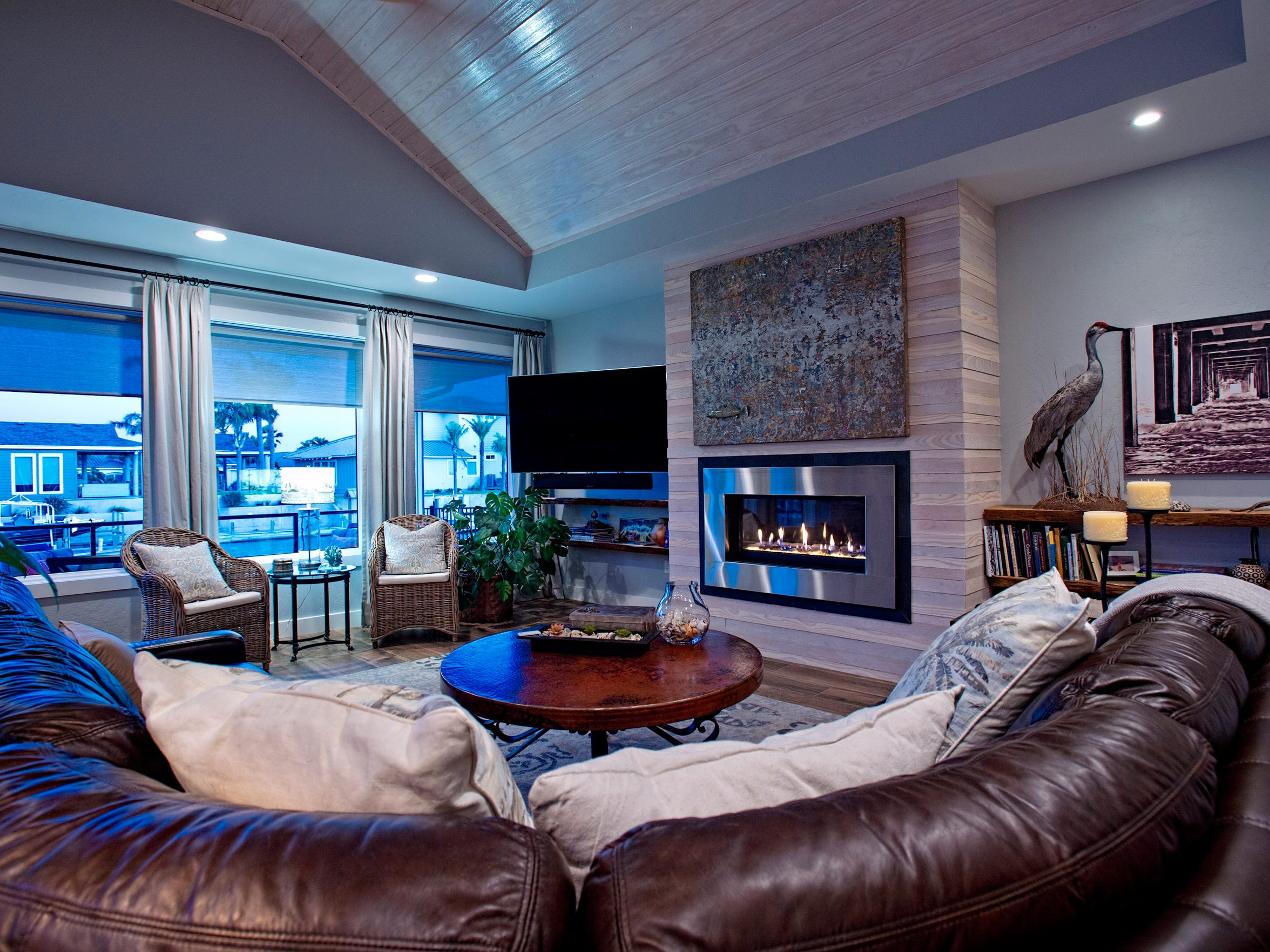 The warm and ultra comfortable living area features