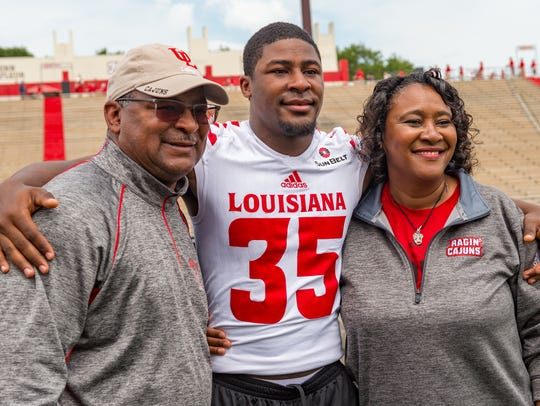 Chaiziere Malbrue- Louisiana Ragin Cajuns Spring Football