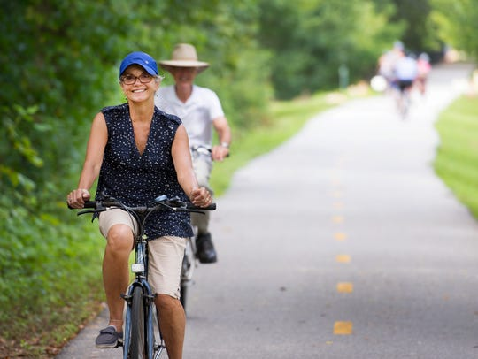 The Swamp Rabbit Trail is a popular destination in