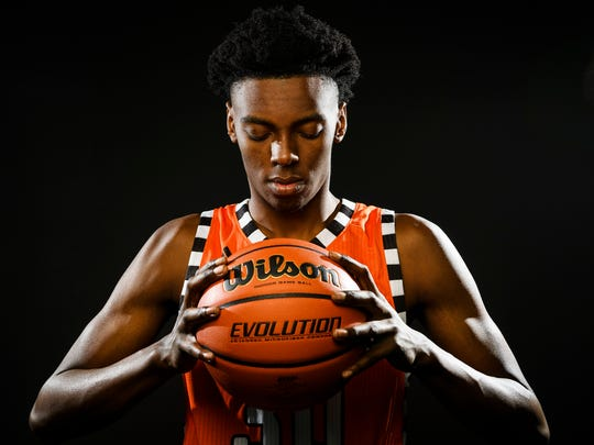 Jamal Burke of Southside High School is a finalist for the 2017-18 Greenville News Upstate basketball player of the year.