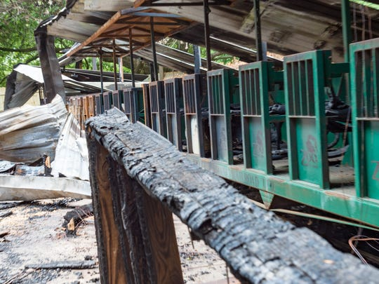 Fire destroyed the train depot and concession stand
