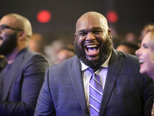 Pastor John Gray during the installation of pastors