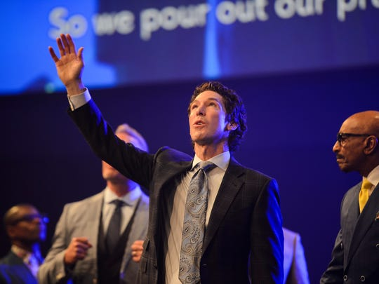 Joel Osteen during the installation of pastors service at Relentless Church on Sunday, June 3, 2018.