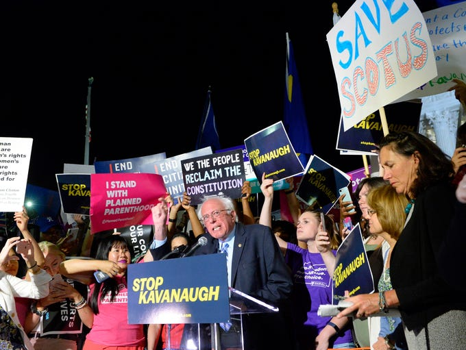 Bernie Sander speaks to Pro-life and pro-choice groups