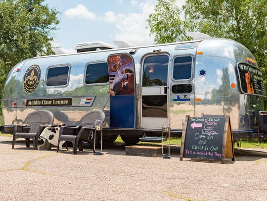 Johnny Johnson converted an Airstream trailer into