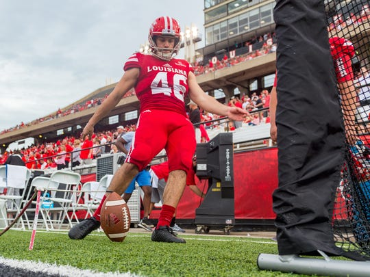 UL kicker Kyle Pfau has now made field goals from 52, 45, 43, 38 and 30 yards out this season.
