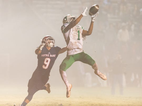 Nore Dame's defense shut down Newman's explosive passing attack during Friday's convincing home semifinals win over the Greenies at Gardiner Memorial Stadium in Crowley.