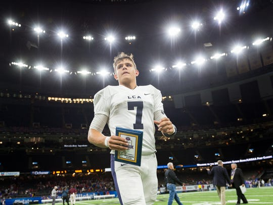 Zachary Clement is named MVP as Lafayette Christian Academy beats Ascension Catholic to win Division IV State Championship game.  Thursday, Dec. 6, 2018.