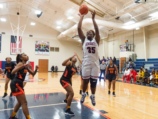 Bre' Porter of Lafayette Christian shoots the ball during Wednesday's game against Brusly in the LCA Showcase Classic.