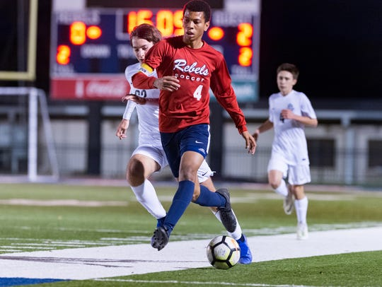 Teurlings Catholic's Jabari Broussard and the Rebels are hoping to make a deep run in the Division III boys soccer playoffs.