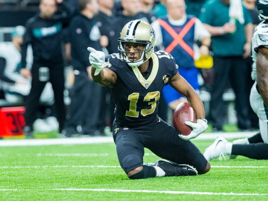 Saints receiver Michael Thomas continued his stellar campaign with 12 catches for 171 yards and a touchdown in the 20-14 playoff victory over Philadelphia.