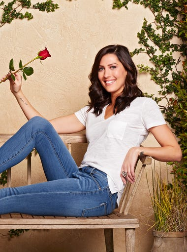 """""""Bachelor"""" Season 13 contestant Becca Kufrin, 28, may have not gotten Arie Luyendyk Jr. but in the end, but she got something arguably better: ABC named her the next Bachelorette. She starts looking for love Monday in the Season 14 premiere (8 ET/PT). Meet the guys vying for her heart and enjoy analyzing the body language for hints as to who made the best first impressions."""