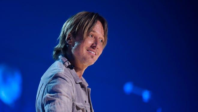 Keith Urban rehearses for his upcoming tour at Bridgestone Arena May 25, 2016 in Nashville, Tenn.