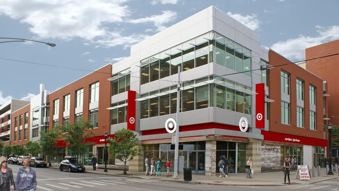 A rendering of the new Target store planned near the University of Cincinnati. The store is slated to open in summer 2017.
