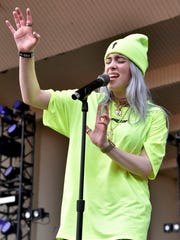 Billie Eilish performs on day one at Lollapalooza in
