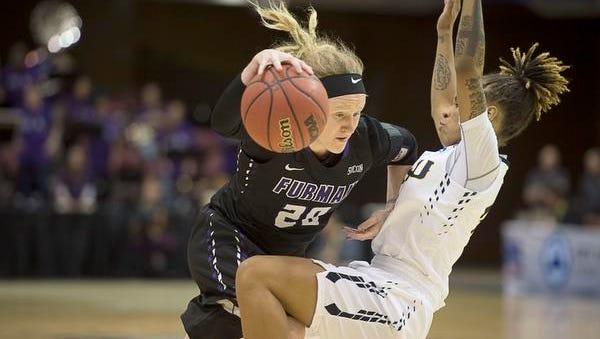 Whitney Bunn scored 26 points for Furman on Thursday.