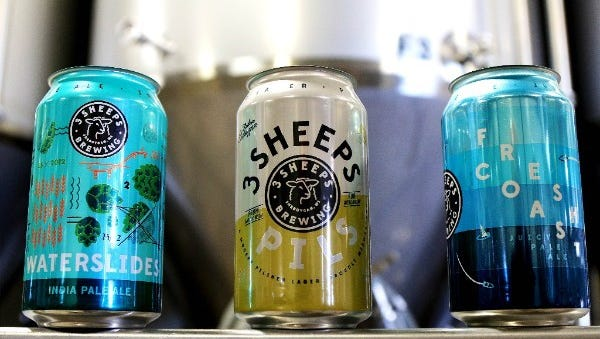 3 Sheeps Brewing is rolling out cans of beer for the first time.