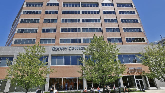 Quincy College pictured in 2018. Greg Derr/ The Patriot Ledger