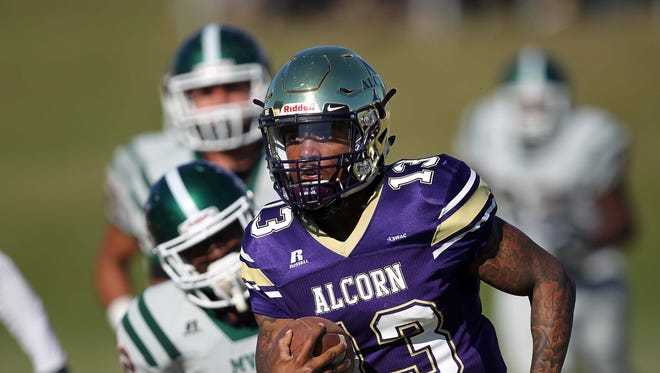 Alcorn State quarterback Noah Johnson and the Braves dominated Mississippi Valley State Saturday.