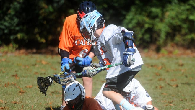 The Wolves Lacrosse competitive team practices at Guy K. Stump Elementary School in Stuarts Draft Saturday morning, Sept. 23.
