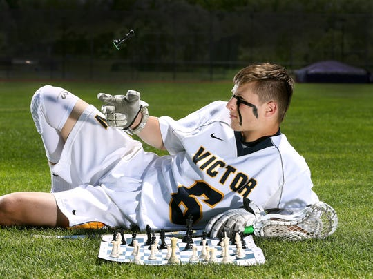 Victor lacrosse player TD Ierlan is also a member of the Chess Club.
