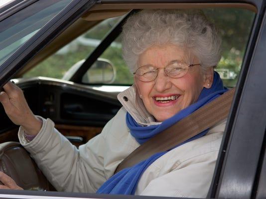 Senior At the Wheel