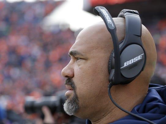 Denver Broncos running backs coach Eric Studesville