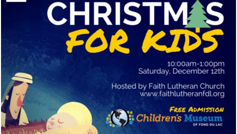 Christmas for Kids event in Fond du Lac