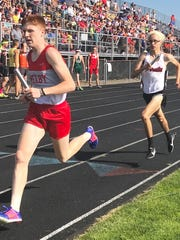 Caleb Brown ran third leg on Shelby's school record-setting and regional runner-up 4x800 relay team