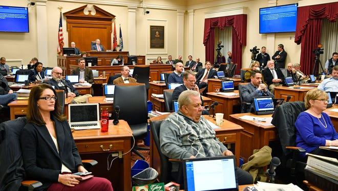 Council members listen during a public hearing on the transit referendum in a Metro Council meeting on Jan. 9.