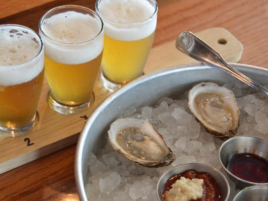 """""""Beer and oysters are the perfect combination,"""" Harton says."""