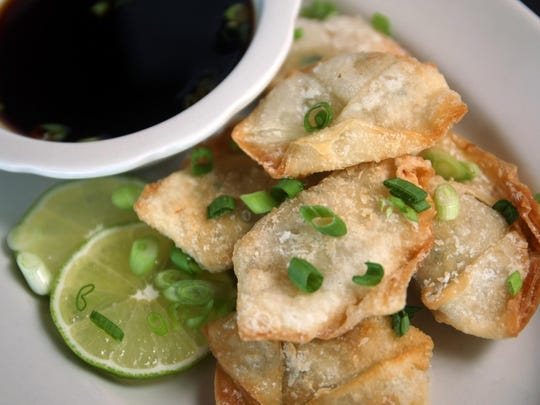 Crab meat wontons are a special at Crab's Claw Inn in Lavallette.