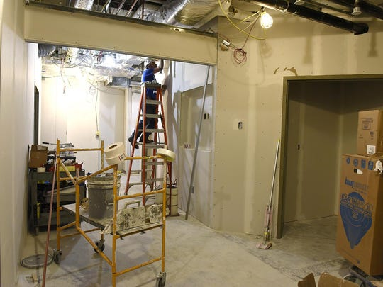 Construction was underway May 28 at St. Cloud Hospital for the expansion of the emergency area.