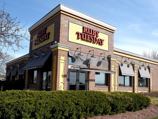 Approximately 100 Ruby Tuesday locations closed in late March