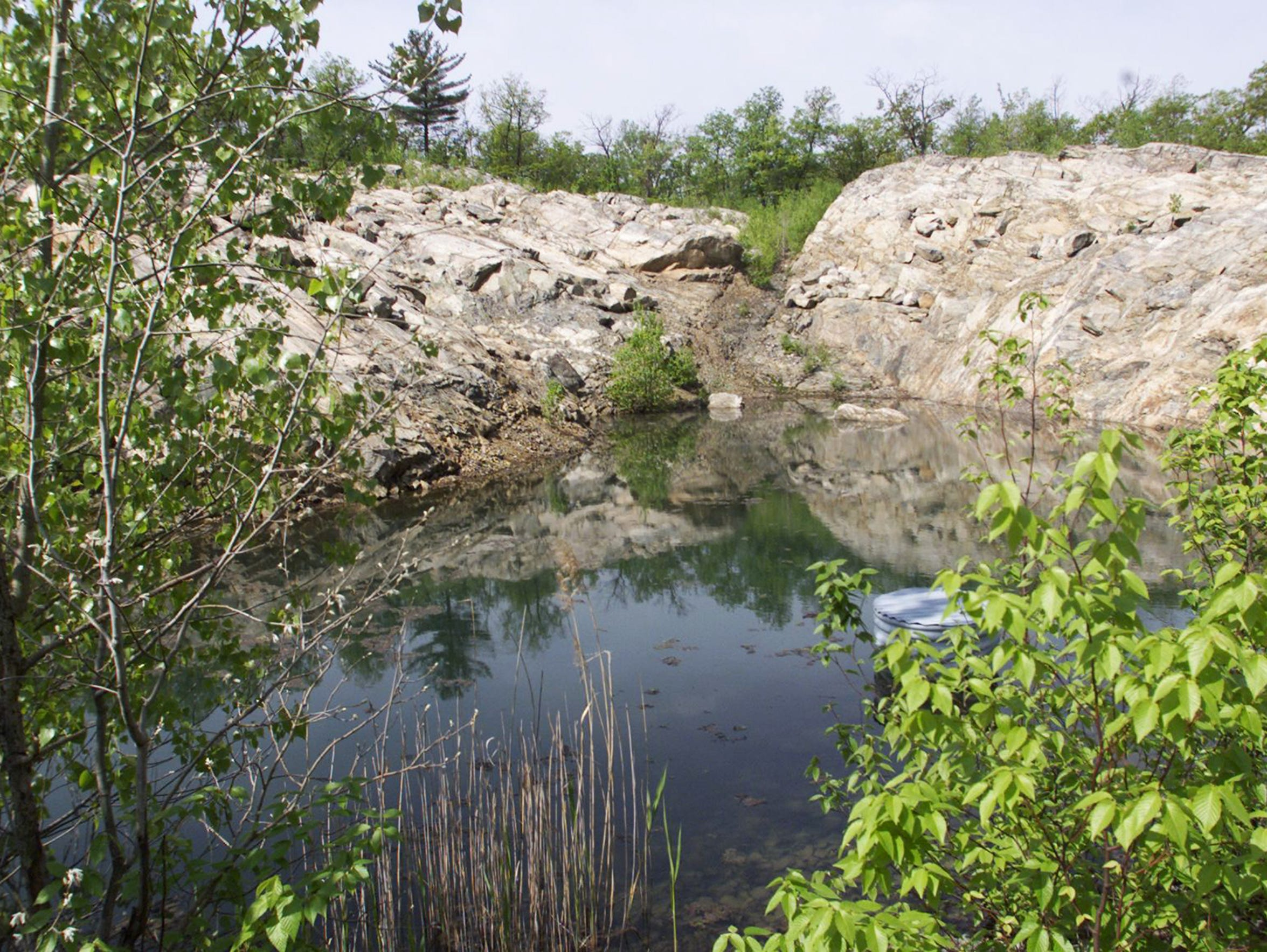 The shooting pond at the former DuPont munitions site