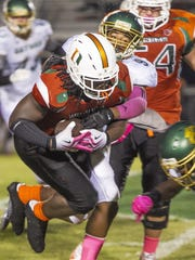 Dunbar running back Abraham Alce has four straight