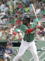 Red Sox outfielder Jackie Bradley Jr., shown here during