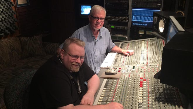 """Billy Kendrick, left, and Gary Smith are working on their second album, """"Building a Fire."""""""